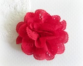 Red Eyelet Flower. 1 pc. JESSAMY Collection