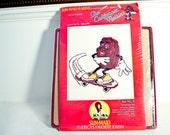 1987 California Raisins cross stitch w/ frame Sun-Maid 80s collectible