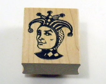 Jester Joker Rubber Stamp