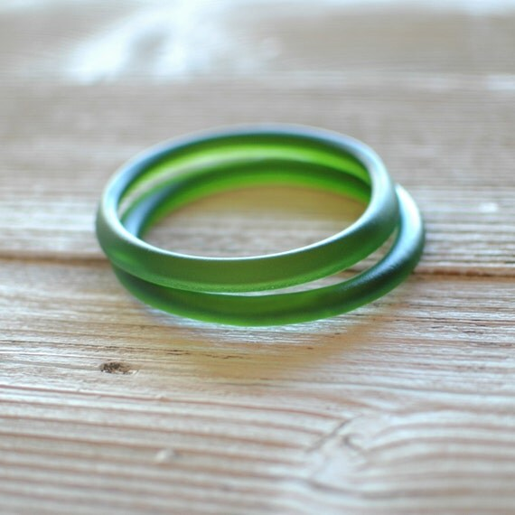 Two Champagne Bottle Bangles // Upcycled Recycled Repurposed Jewelry
