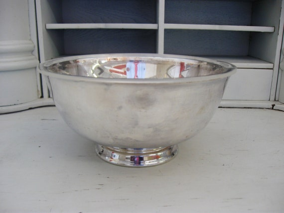 Reed & Barton Bowl, Silver Plated Serving Footed Bowl, Liner