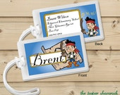 Jake and the Neverland Pirates-  Luggage Tag, Bag Tag, Backpack Tag, ID Tags, Personalized, Custom