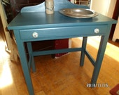 ON HOLD FOR A....Hand painted Vanity/Desk/Entry Table - Cottage Chic