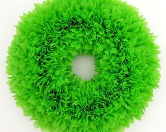 Spring Wreath --- Outdoor Wreath --- Lime Green Wreath --- Mother's Day Gift --- Door Wreath --- Indoor Outdoor Wreath --- Summer Wreath