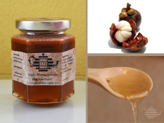 Goji Mangosteen Honey tea.   Immune support. 8 oz jar