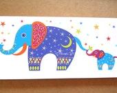 Elephants greetings card blank card