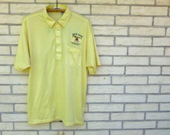 Vintage Mens Bowling Shirt Polo Ben Hur Sparky XL 1980s