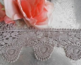 Lavender Crocheted Trim