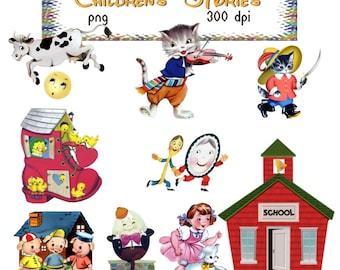 Clip Art:  Children's Stories Transparent png Digital Files    no. 154