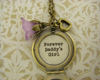 Forever Daddy's Girl Necklace, Locket,  Daughter Wedding, Dad to Daughter Gift