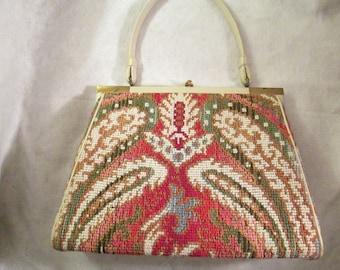 Multicolored TAPESTRY 1950's Handbag
