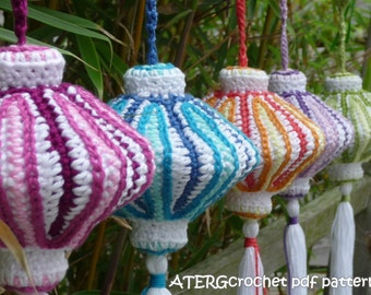 Crochet pdf pattern CHINESE LANTERN by ATERGcrochet