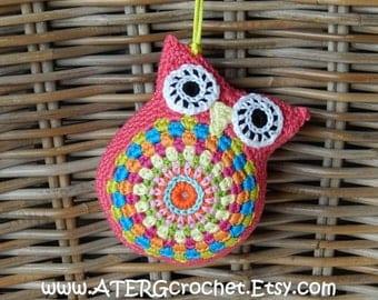 CUDDLY OWL 'kamelie' by ATERGcrochet