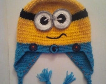 Baby Boy Minion Hats, Minion Hat, Inspired by Minion Crochet Hat, Yellow Minions Beanie, Baby boys cool hats