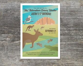 Adventure Down Under, Australian Outback Birthday Invitation (15)
