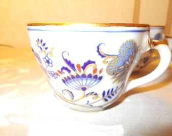 4 Rich Blue Onion Cups