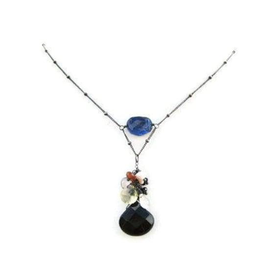 Onyx Necklace WhiteTopaz Citrine van Gogh Gift for Her