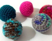 5 kitty balls various yarn your choice of filling