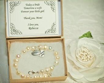 Vintage Pearls Mother of the Bride Bracelet -SP- Vintage Gift Card -- Mother's Day Bracelet -- Authentic Freshwater Pearls