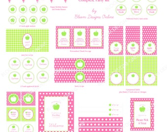 Apple of Our Eye Party Kit by Bloom Designs Online