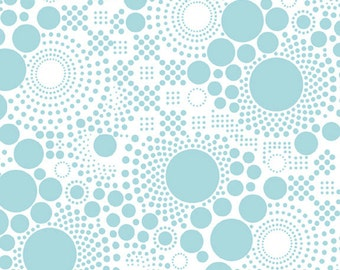 Fabric / Hipsters / Pop Aqua / Aqua Circles / Apparel Fabric / Quilting Fabric / from Riley Blake  C521-04