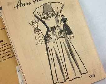 Vintage 40s Dress Sewing Pattern, Anne Adams, 4680