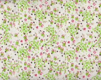 Floral Fabric, Lime Green Paisley, Paisley Fabric, Pink Fabric, Lime Green Fabric, 1 yard Fabric, 01997
