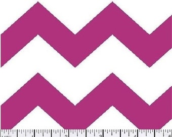 Chevron, Large Chevron Fabric, Pink and White Fabric, Hot Pink Fabric, Chevron Fabric, Pink Fabric, 1 yard fabric
