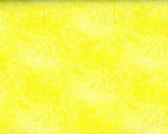 "54"" Wide, Yellow Tonal Vine, Yellow Fabric, Floral Fabric, 1 yard Fabric, 02146"