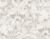 Menagerie Timberwolf, Indian Summer Fabric by Sarah Watson for Art Gallery Fabrics, One Yard