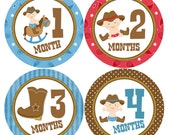 Cowboy Baby Month Sticker Monthly Stickers Western Baby Stickers Baby Milestone Sticker Western Baby Shower 12 Month Stickers Baby Boy B181