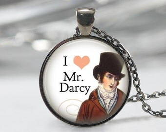 Mr Darcy Necklace, Jane Austen Pendant, Pride And Prejudice Jewelry