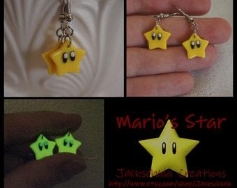 Glow in the Dark Nintendo Star Earrings