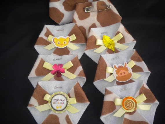 48pc dirty diaper game baby shower lion king baby theme