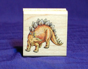 Stegosaurus Dinosaur Rubber Stamp. New