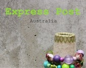 Express Post delivery, Australia only. For items without free post.
