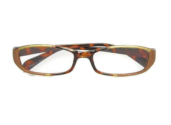 reading glasses 225 strength handpainted in bronze by
