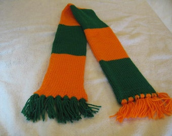 Orange and Green Scarf