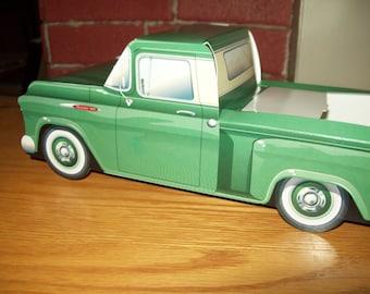 Retro  Vintage Green 57 Chevy Pickup Food Box,Popcorn Box Kids Brithday Party Set of 5