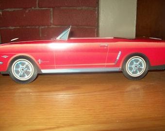 Retro  Vintage Red Mustang Food Box,Popcorn Box Kids Brithday Party Set of 5