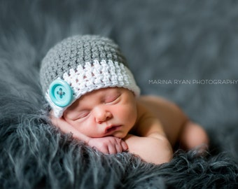 newborn boy hat, newborn hat,  baby boy hat,  boys hat, gray  baby boy hat, baby shower gift, baby boy hat, baby boy winter hat, winter hat