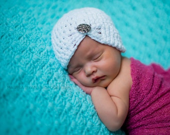 baby girl hat, newborn girl hat,  girls hat, newborn girls hat, white baby hat, hospital hat, girls hospital hat, butterfly hat, baby cloche