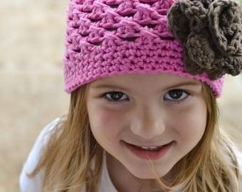 baby hat, girls hat, baby girls hat, little girls hat, kids hat, crochet kid hat, pink hat, Baby girls hat, crochet baby hat, hat for girls,