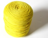 T-shirt yarn - Chunky, bulky, thick cotton yarn - yellow, bright, banana, lemon*