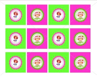 Strawberry Shortcake Printable Customizable Party Tag