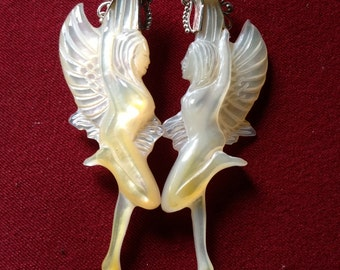 Angel Fairy Pearl Shell Earrings