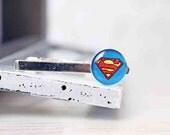 Superman Tie Clip - Comic Superhero - Accessories for Men - Wedding Gifts for Groomsmen