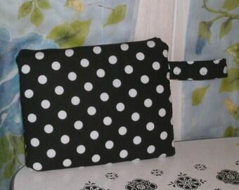 I pad case Black with white polka dots