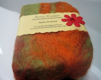 Handmade Apple Orchard Felted Soap