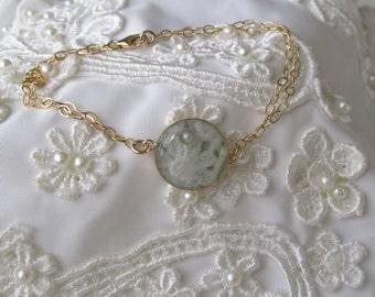 Your Wedding Lace 14K Gold Filled Bracelet Something Old Something Blue